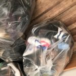 bags of used shoes